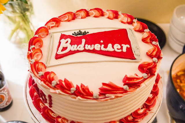 Budweiser cake for Andrew's 40th birthday party