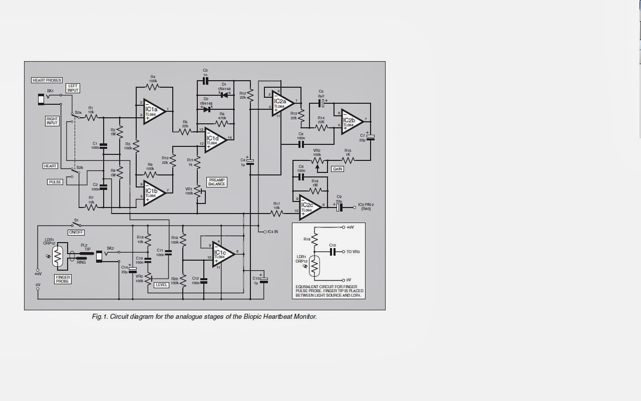 Final Year Project Heart Beat Monitor Rate Schematic Actually There Is Two Circuit Which Analogue Stage And The Control For Other One I Am Not Yet Complete It So That Today