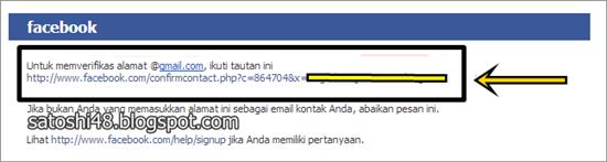 Link email baru dari facebook