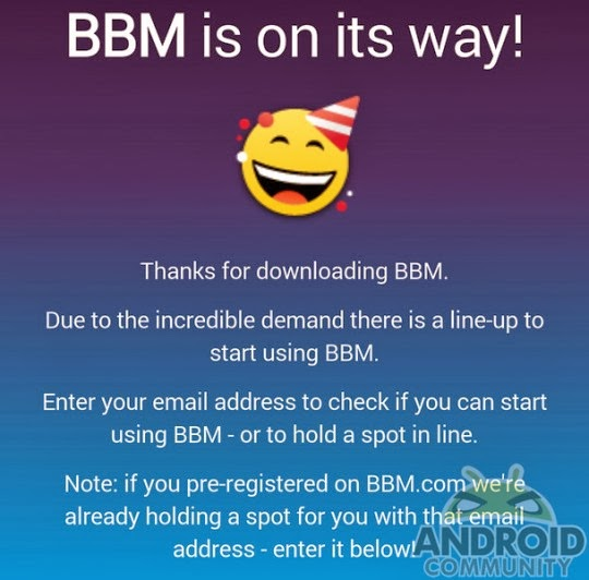 bbm waiting list