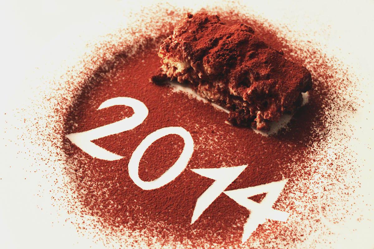 Happy New Year, hot chocolate, Merci, tiramisu, relax