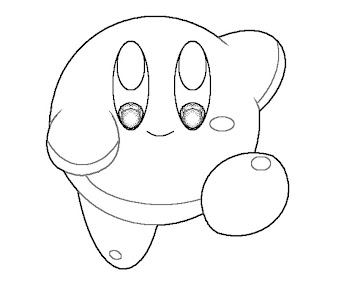 #3 Kirby Coloring Page