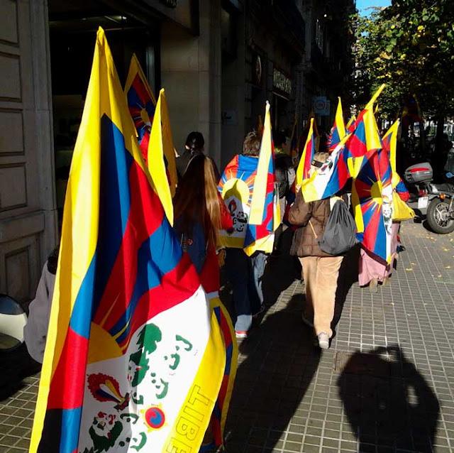 Protesta tibetana en Barcelona
