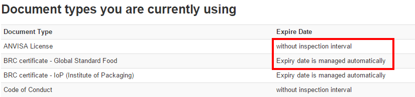 Document types on ecratum
