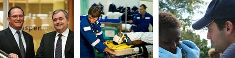 Left: Glenn Keys and Andrew Walker, Right: Aspen Medical services