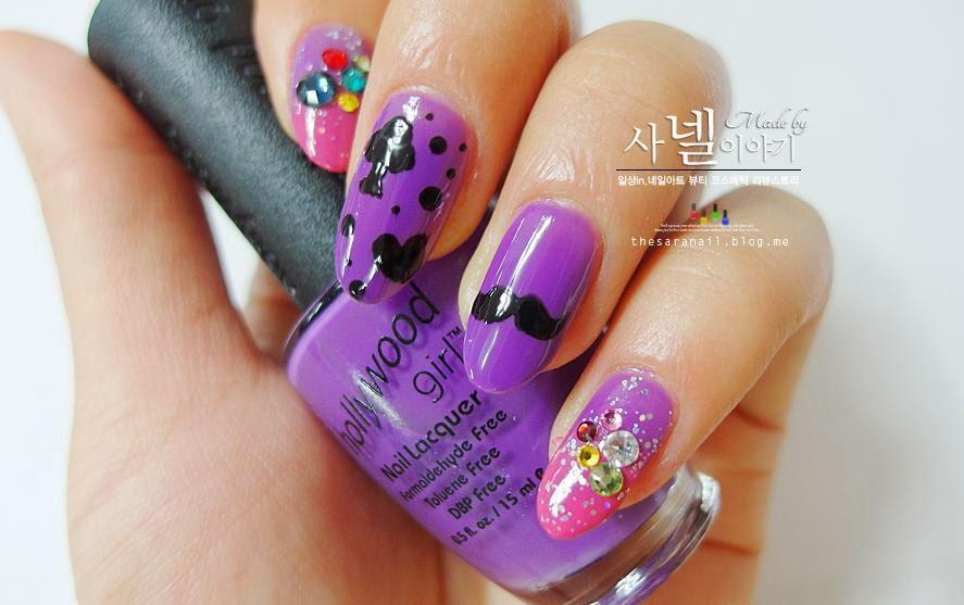 SARA NAIL: Purple nail polish, gorgeous purple nail lacquer