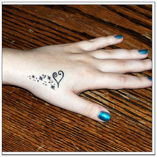 girl tattoo designs dragon: Tattoos on The Hand
