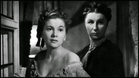 Joan Fontaine y Judith Anderson en Rebeca