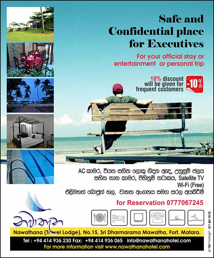Safe and Confidential place for Executives at Matara.