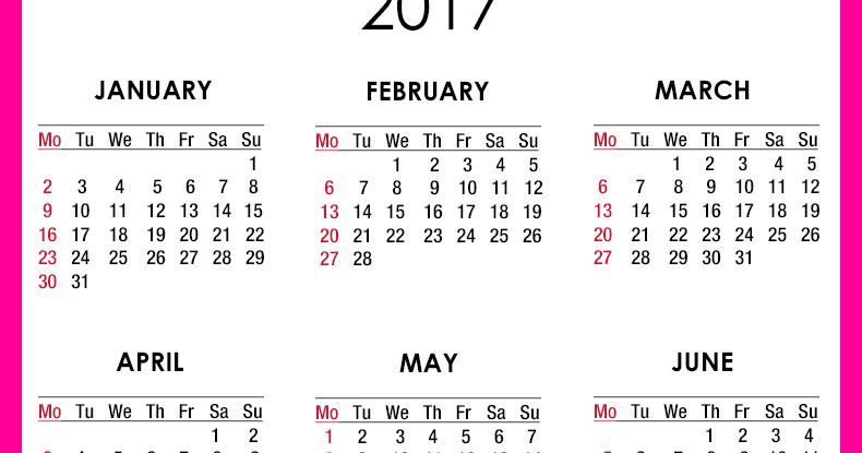 New York Web Design Studio, New York, NY: 2017 Calendar - Printable ...