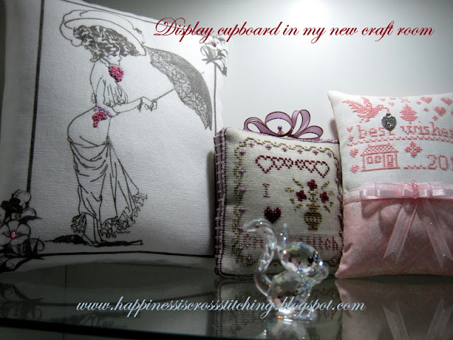 Cross stitch finishes in my craft room