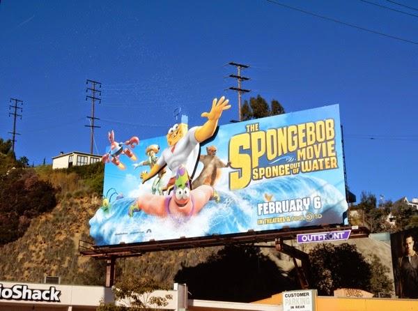 SpongeBob Movie bubbles billboard installation