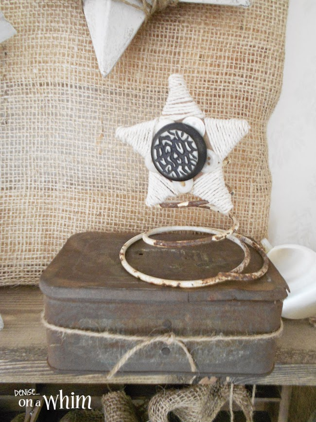 Rusty Tin and Magnetic Star on a Chippy Spring | Denise on a Whim