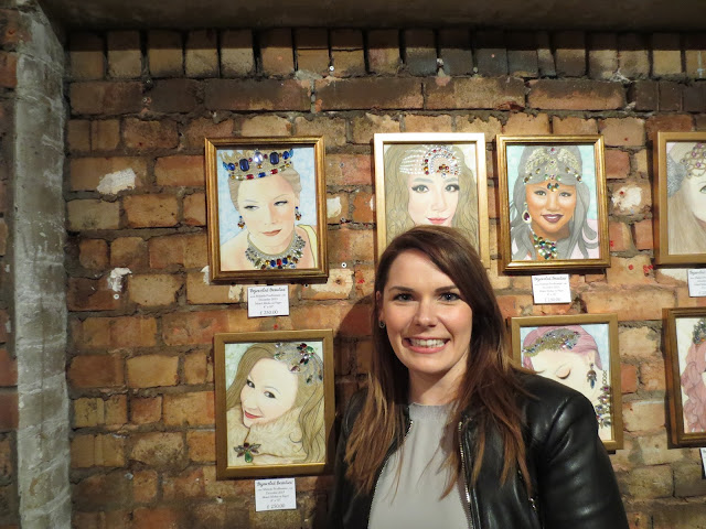art, artist, artwork, london, england, uk, exhibition, art show, oxo tower wharf, bargehouse gallery, malinda prudhomme, portrait, portrait artist, toronto portrait artist, beauty, beauty art, mixed media art, mixed media artist, canadian artist, original artwork, travel artist, gems, gem art, gold, sparkle art