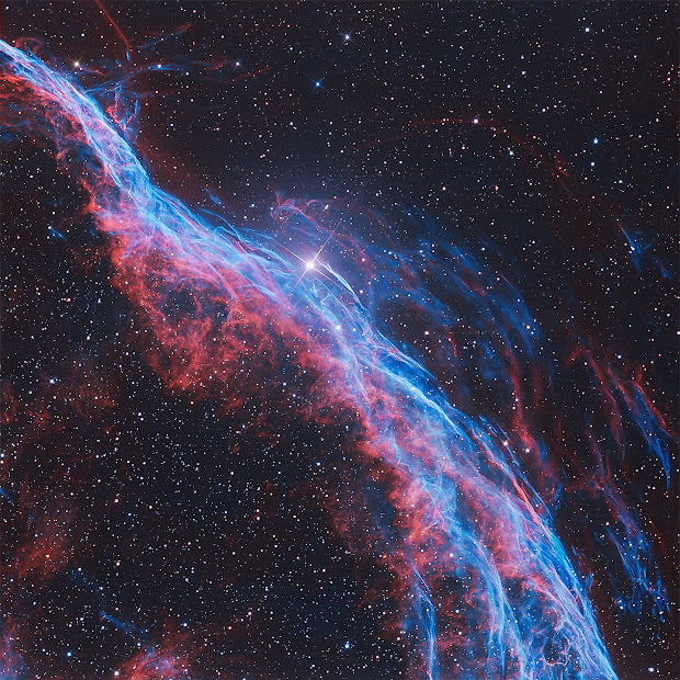 Supernova Remnant NGC 6960: Witch's Broom Nebula