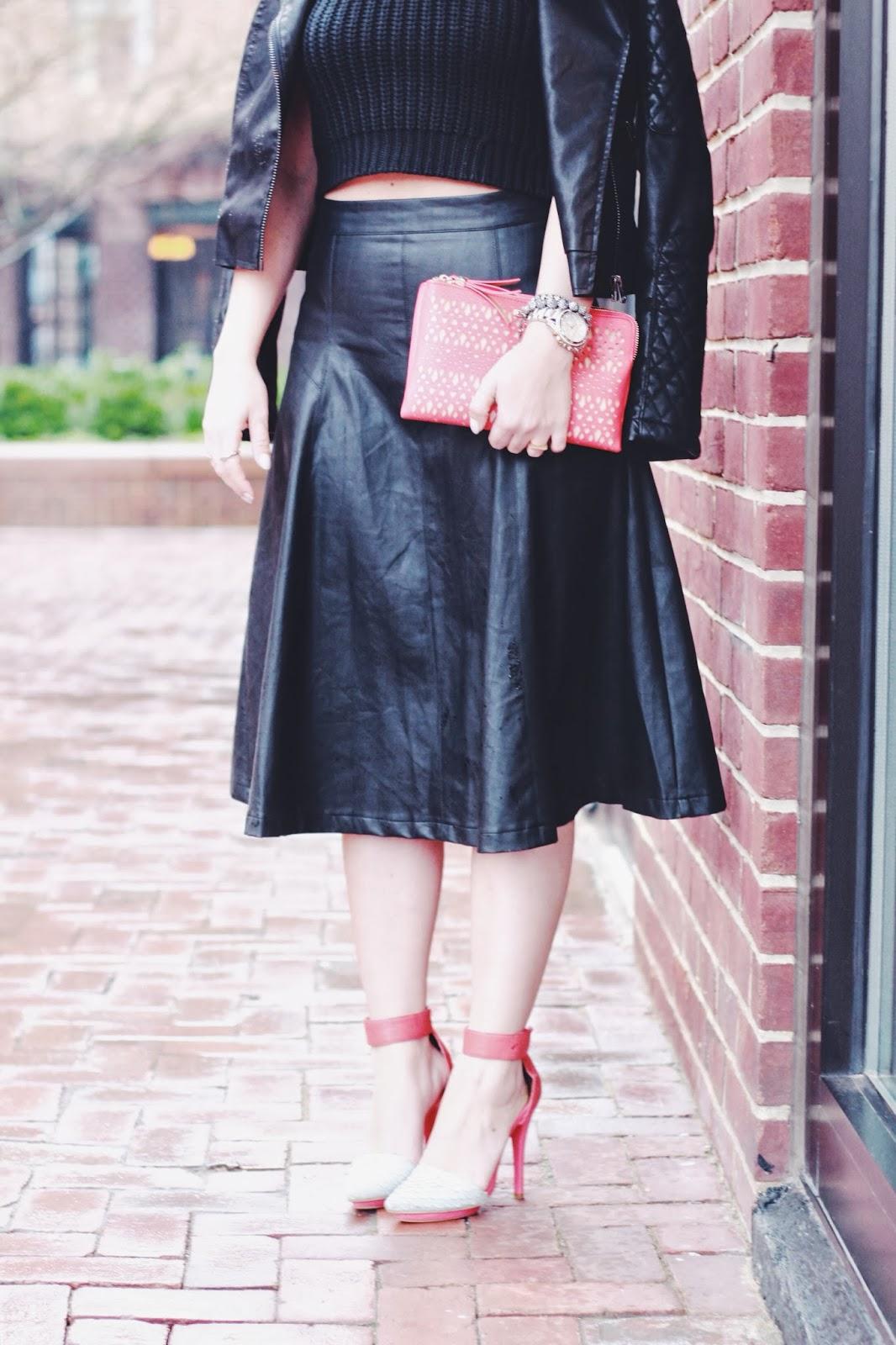 midi skirt, leather skirts, crop tops, fashion blogger, dc blog, fashion trends 2014, spring fashion