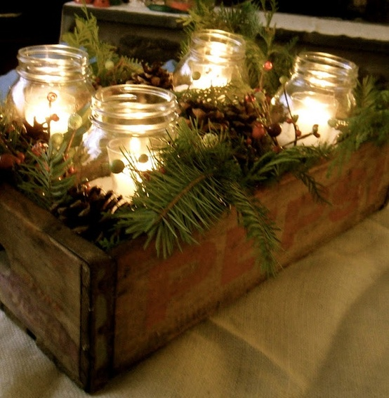 Diy mason jar holiday centerpiece