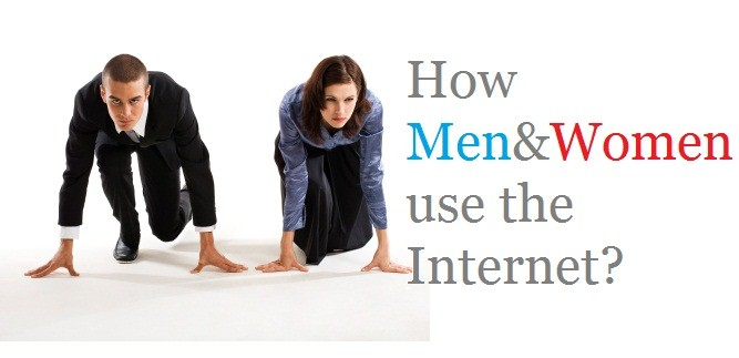 Men and Women utilize Internet in different perspective