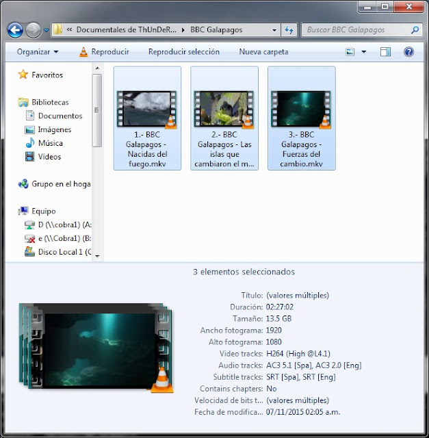 13GB|BBC|Galapagos|FullHD 1080p|Dual|3-3|MEGA|Taykun7000