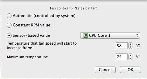 Macs Fan Control, MacBook Pro