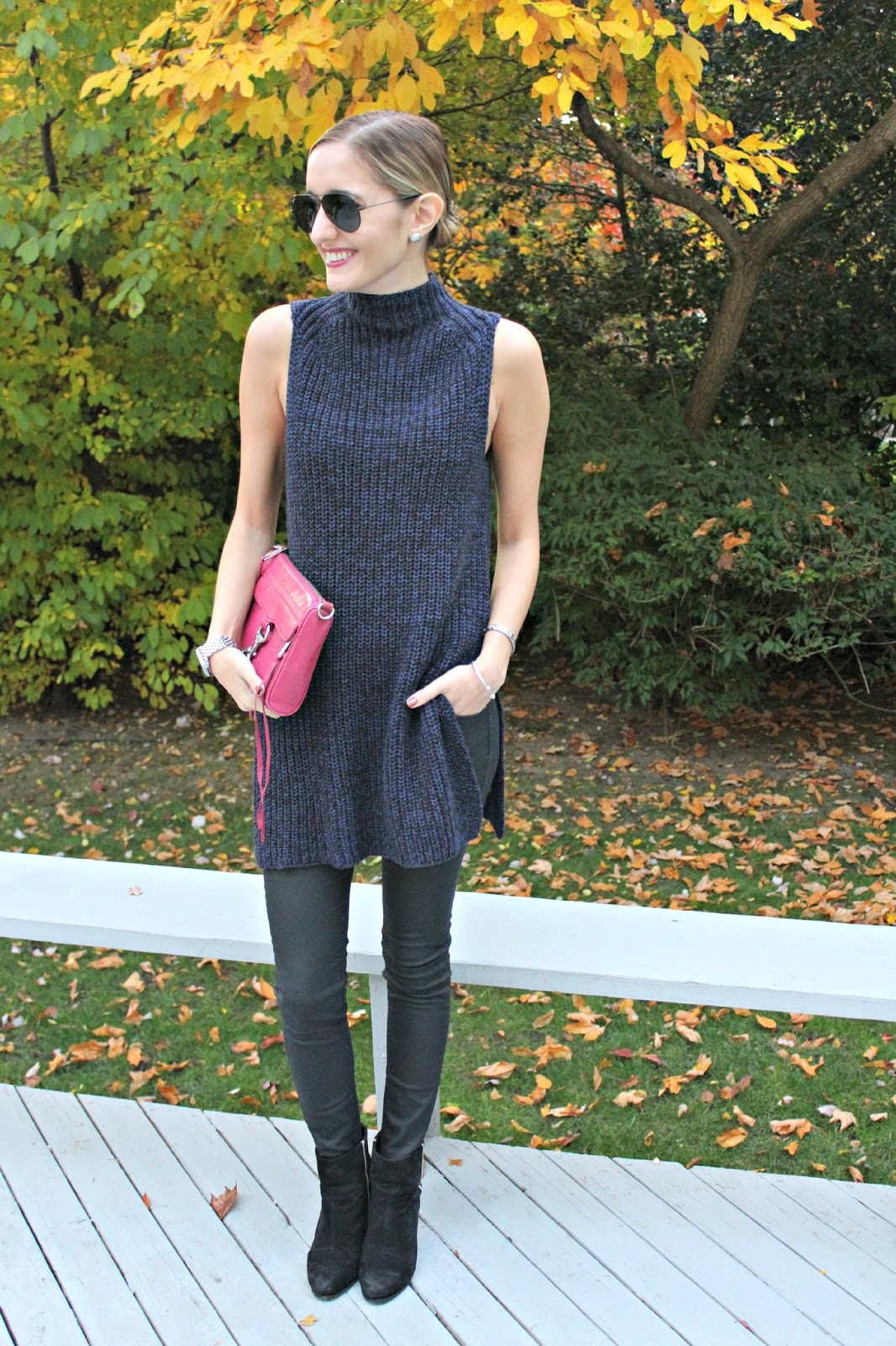 styling a sleeveless turtleneck