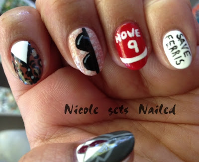 Ferris Bueller's Day Off Nail Art