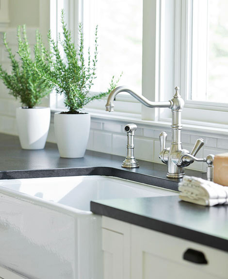 Kitchen Backsplash For Granite Countertops: Made In Heaven: New Home With Comfortable Charm
