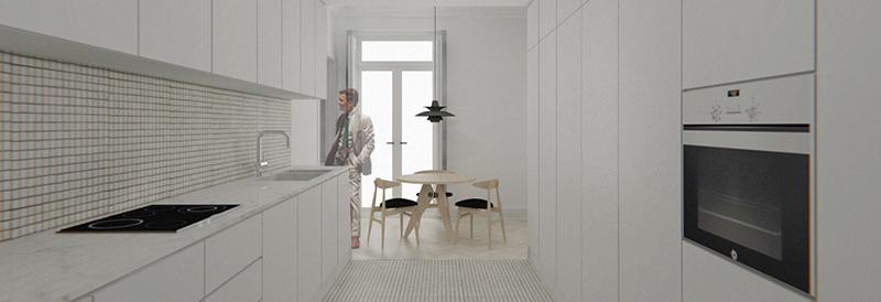Reforma integral de vivienda en el ensanche de valencia for Reformas cocinas valencia