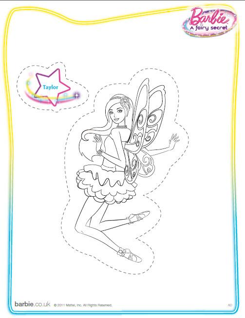 Barbie: Colorea a Barbie y a sus amigas de El secreto de las hadas
