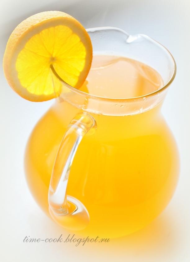Компот из лимона и яблок рецепт