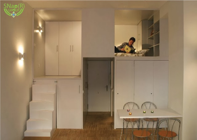 Smart Storage Solutions Compact Loft in Madrid