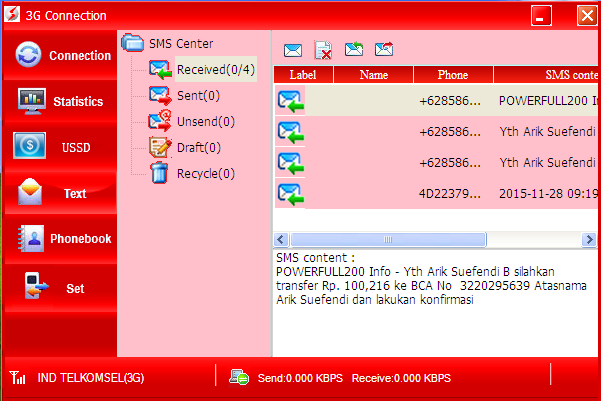 SMS Invoice Bisnis PF200