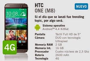 HTC ONE M8 YOIGO: precios y características principales