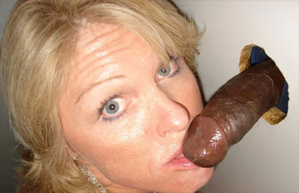 Wife discovers glory hole