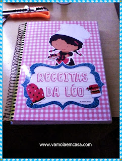 capa caderno receitas personalizado