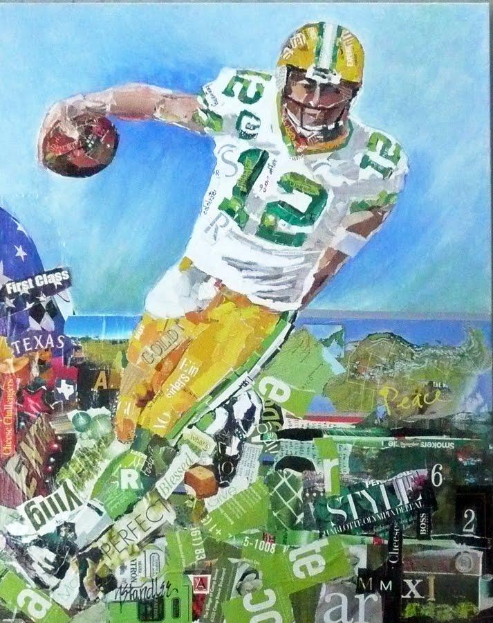 Nancy Standlee Fine Art: Green Bay Packer ~ Aaron Rodgers ~ Torn ...