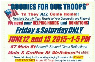 6-12 &13 Goodies For Our Troops