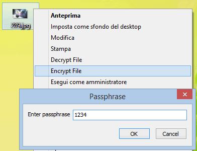 EncryptThat criptare un file