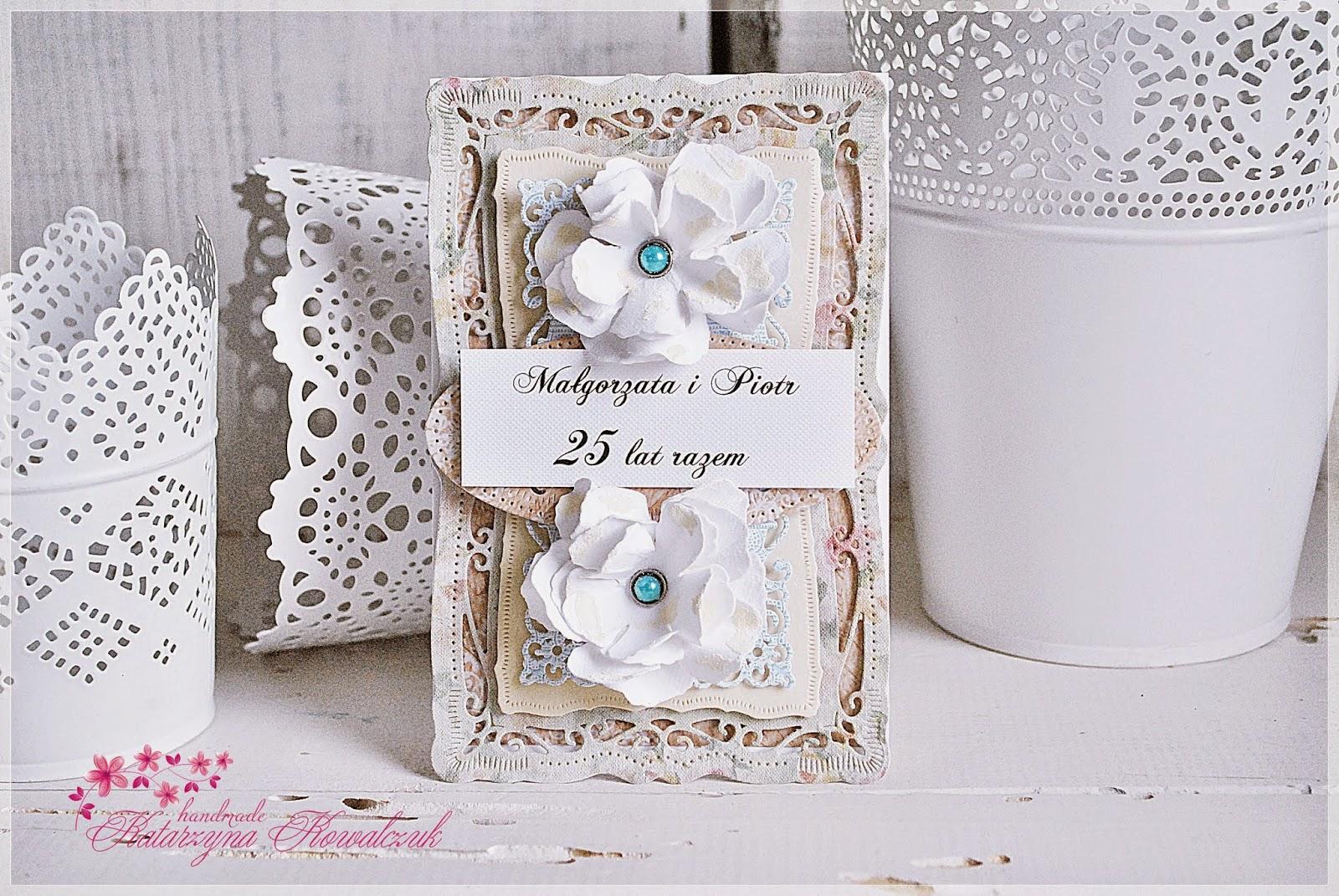 kartka na 25 rocznicę ślubu scrapbooking