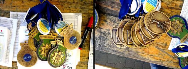 Maseur oficial la Maraton Arad 2015. O nouă participare, un nou rol, acelaşi eveniment frumos de alergare. Medalii
