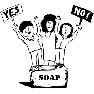 kids on soap box