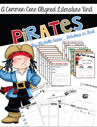 http://www.teacherspayteachers.com/Product/How-I-Became-a-Pirate-A-Literature-Unit-1196575
