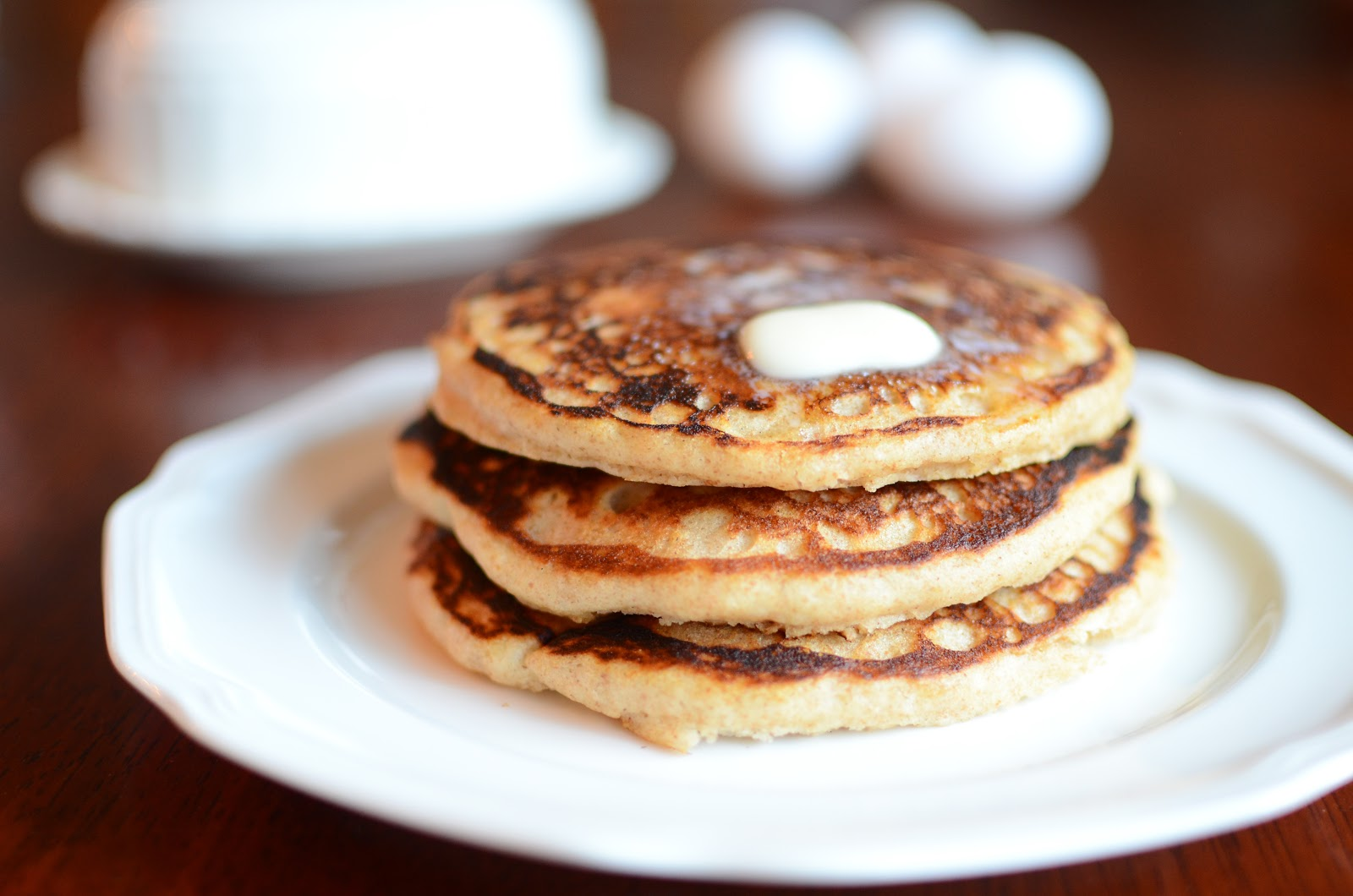 ButterYum: Whole Wheat Buttermilk Pancakes from Cooking Light
