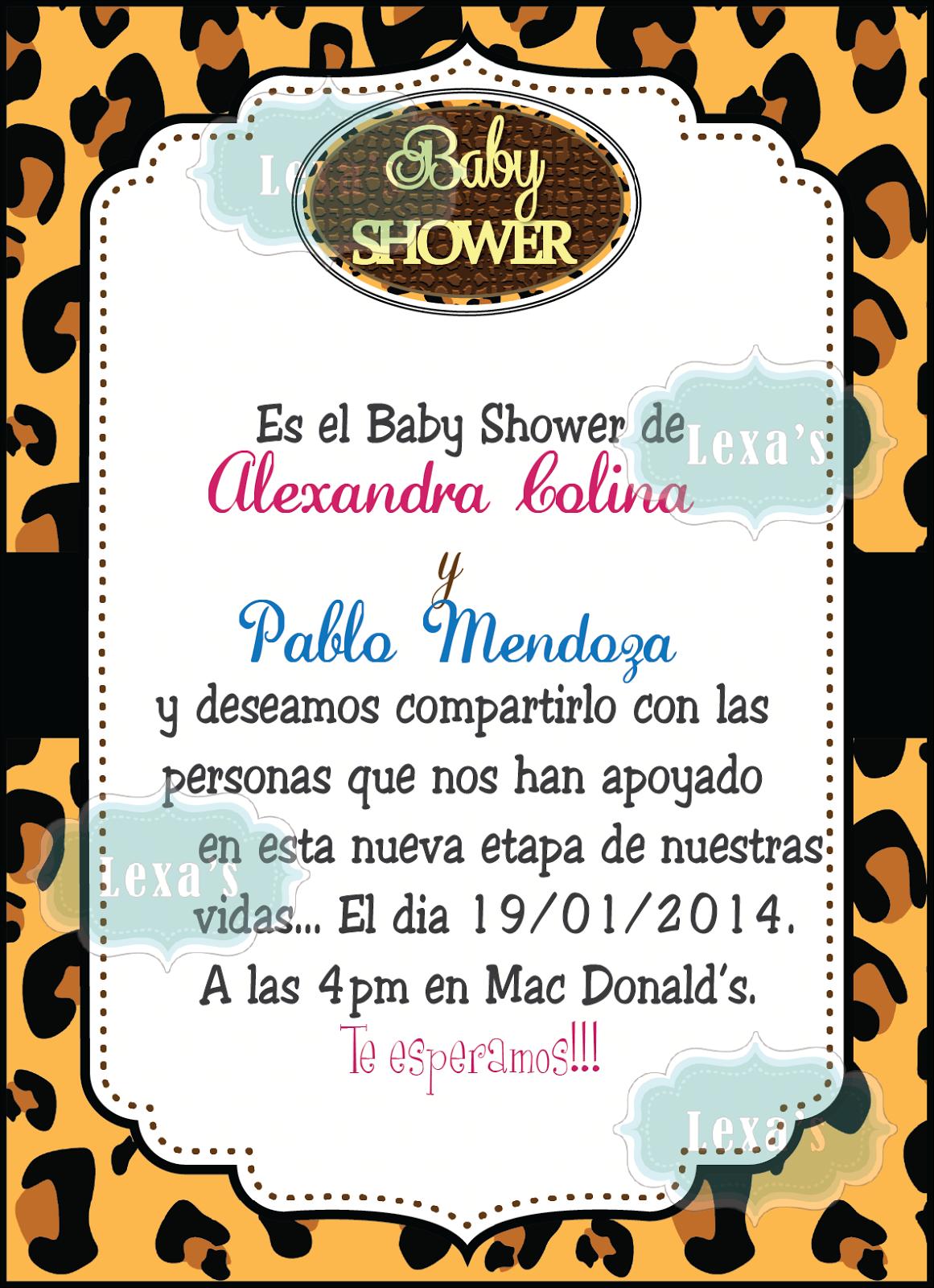 Lexas Design: Baby Shower