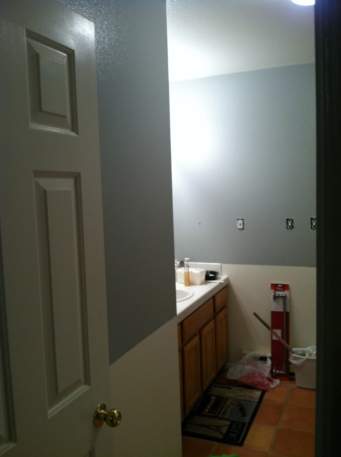 Rebecca's Round Up: Before and After: Master Bathroom