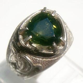 batu permata asli, bertuah alami, cincin perak