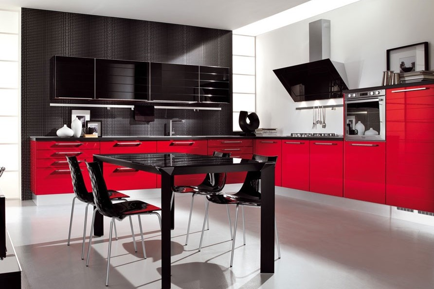 red and black kitchen decor - Red Kitchen Decor