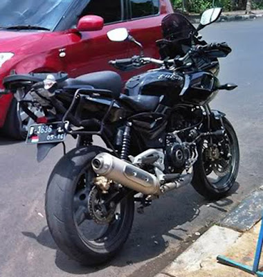 Modifikasi Motor Bajaj Pulsar Adventure Touring