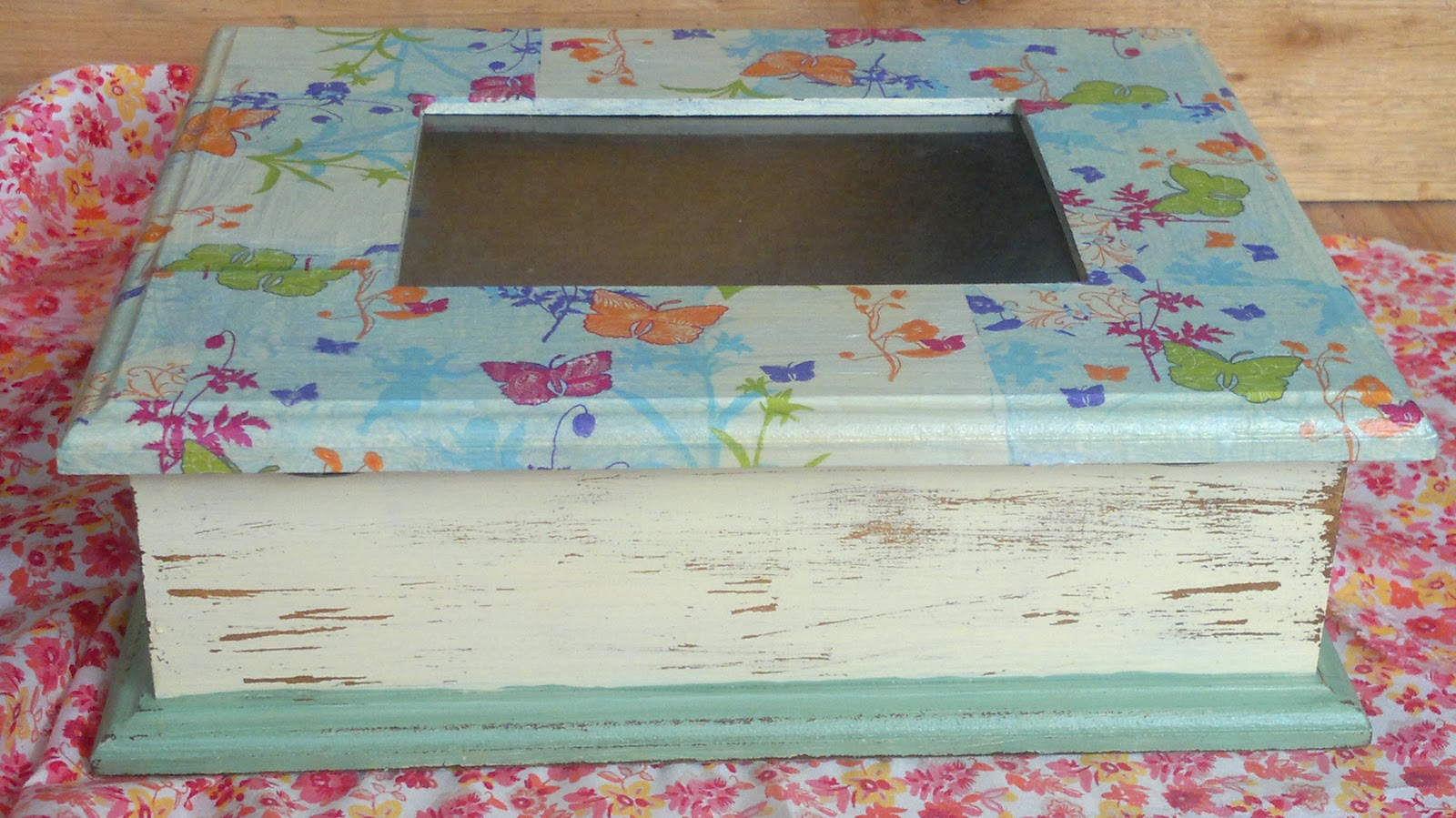 Como pintar una caja de te en decoupage como pintar una - Como hacer una caja para te ...