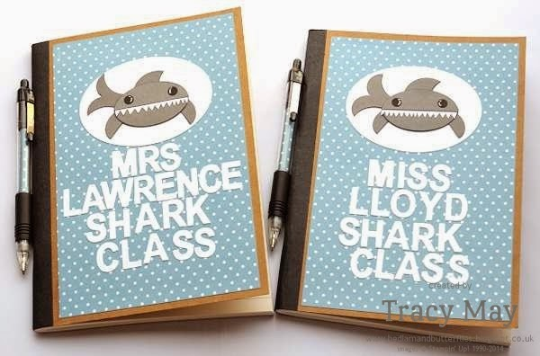 stampin up uk independent demonstrator punch art shark notebook gift ideas